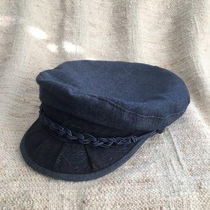 Rare True Blue Denim Aegean Greek Fisherman Hat
